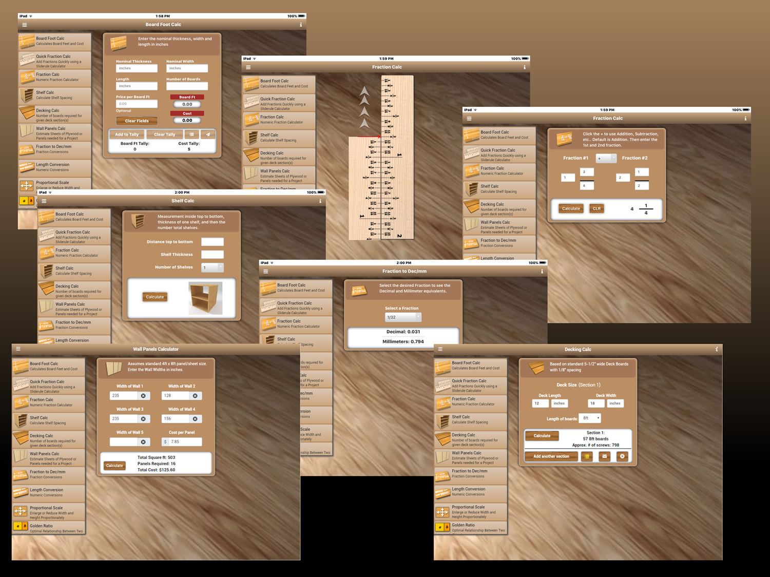 Woodmaster Woodworking App For Iphone Android And Ipad Woodmasterhd For Ipad