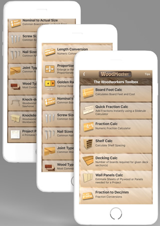 Woodmaster Woodworking App For Iphone Android And Ipad Woodmaster For Iphone